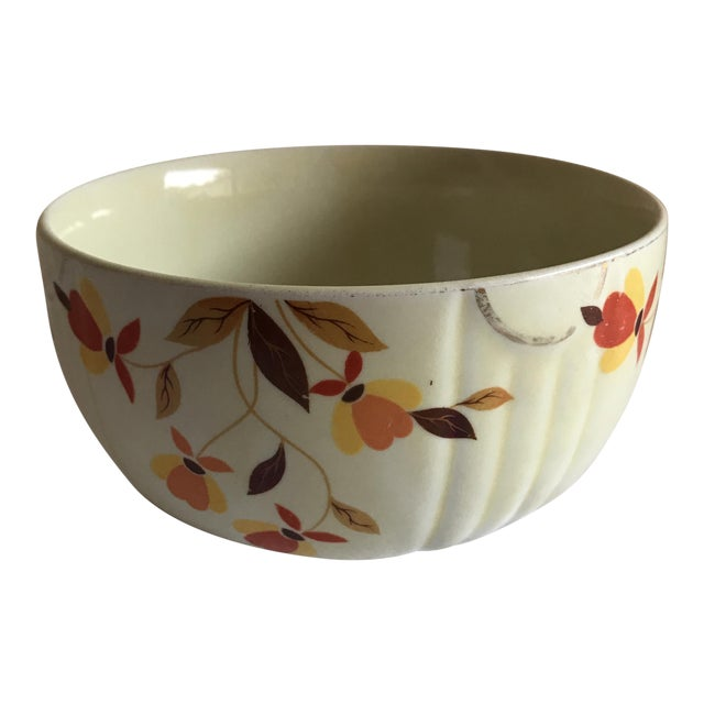 Vintage Hall Pottery Ceramic Bowl For Sale