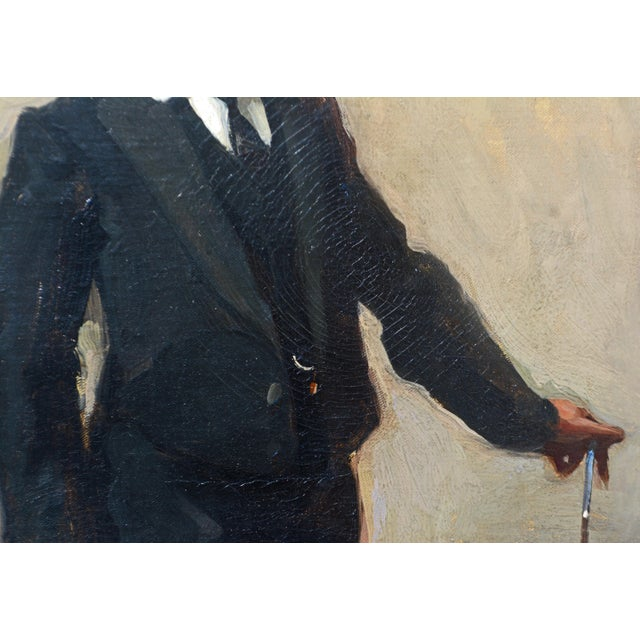 To the Manor Born' Full Length Portrait by Maurice Wagemans, Belgian 1877-1927 For Sale - Image 4 of 12