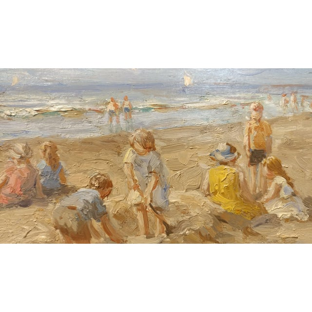 "Anton Karssen ""Children Day at the Beach"" Original Oil Painting - Image 4 of 10"
