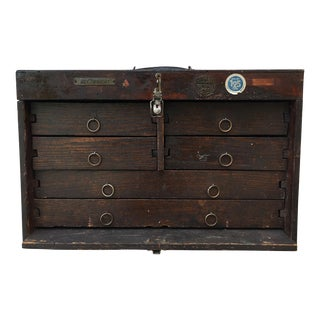 1800's Handmade Small Wooden Cabinet For Sale