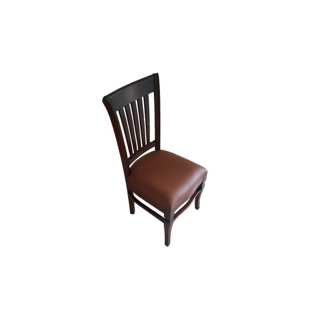 Teak Wood Classic Dining Chairs - Set of 6 - Image 5 of 5