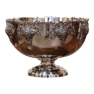 Mid-20th Century French Silver Plated Wine Cooler Bowl For Sale