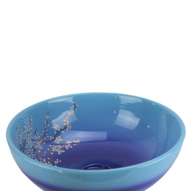 "Pasargad DC Sink Bowl Navy Blue Motif Sink Bowl Material Porcelain Size L16.11"" X W16.11"" X H6.2"" in"