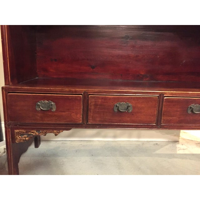 Asian Antique Chinese Bookcase Display Chest For Sale - Image 3 of 13