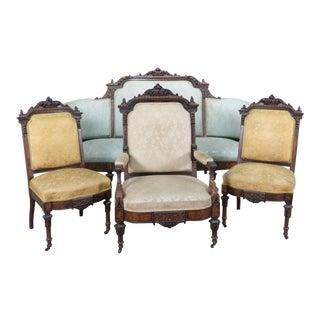 4pc Victorian Parlour Set Attr Allen & Bros For Sale