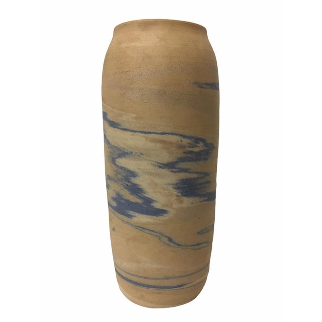 Clay Antique Early 20th Century Niloak Pottery Mission Swirl Vase For Sale - Image 7 of 7
