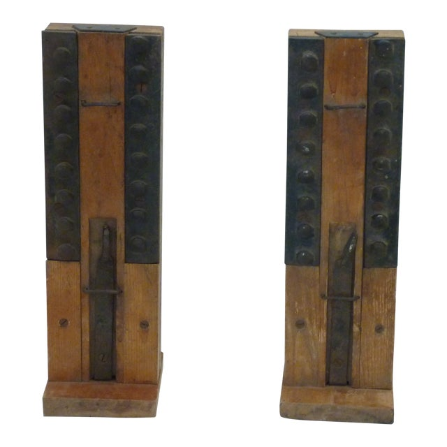 19th C. Industrial Window Part Samples - a Pair For Sale