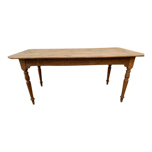 Authentic Antique French Farm Table For Sale