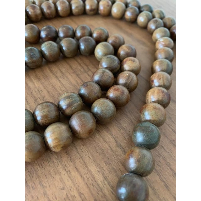 Vintage Chinese Wood Pray Beads For Sale - Image 4 of 5