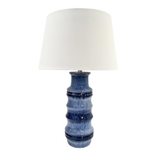 Arteriors Modern Blue Glaze Ceramic Radcliff Table Lamp For Sale