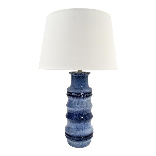 Arteriors Modern Blue Glaze Ceramic Radcliff Table Lamp For Sale