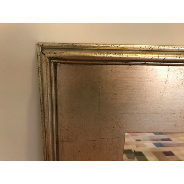 Pottery Barn Metallic Finish Wood Frame Mirror For Sale - Image 5 of 6