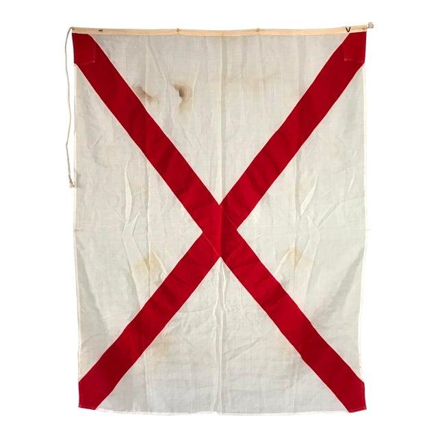 "Vintage Nautical Flag Signal ""V"" - Image 1 of 4"