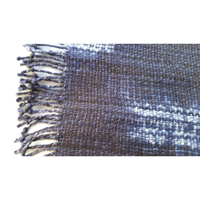Homespun Indigo Place Mats - Set of 6 For Sale - Image 4 of 6