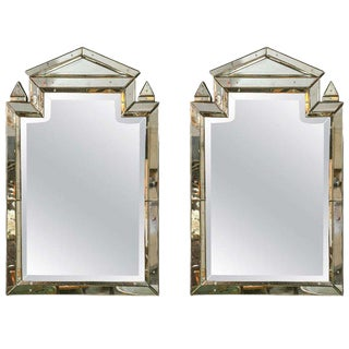 Pair of Piedmont Hollywood Regency Style Venetian Mirrors