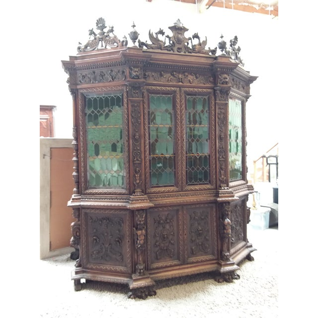 Mid 19th Century Ornate Renaissance Revival French Bookcase For Sale - Image 5 of 12