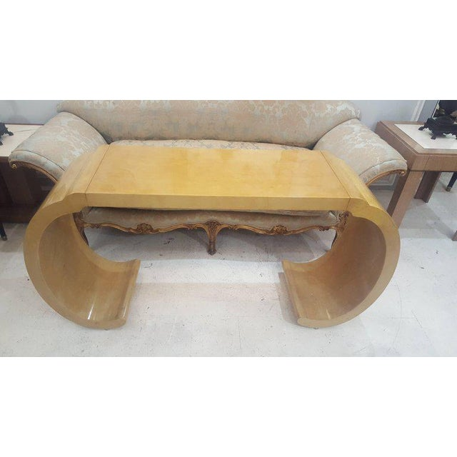 Mid-Century Modern Sculptural Lacquered Console Table For Sale - Image 3 of 6