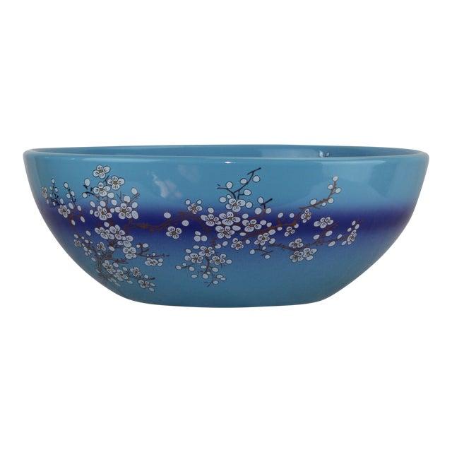 Pasargad DC Modern Navy Blue Motif Sink Bowl For Sale In Washington DC - Image 6 of 7