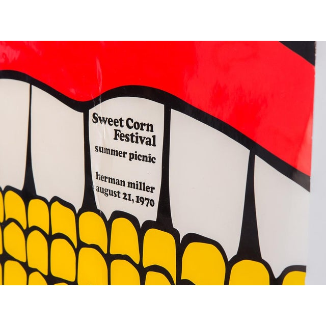 Super rad, super scarce Summer Picnic Sweet Corn Festival, August 21, 1970 poster designed by Stephen Frykholm for Herman...