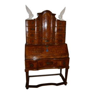 18th Century Traditional Austrian Walnut Secretary Desk For Sale