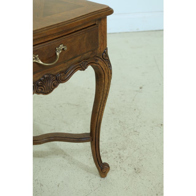 Drexel Heritage Drexel Heritage Country French Style Walnut & Oak End Table For Sale - Image 4 of 10