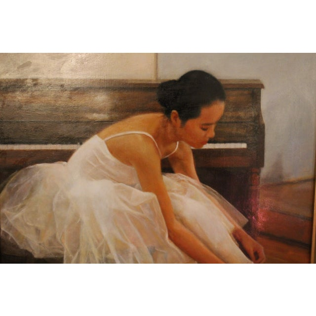 Wu Jian Ballerina Oil Painting For Sale - Image 4 of 5