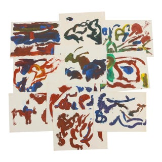 Vintage Mid-Century Paul Chidlaw Abstract Acrylic Painting Collection - 10 Pieces For Sale
