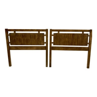 Dixie Campaign Style Twin Headboards - A Pair