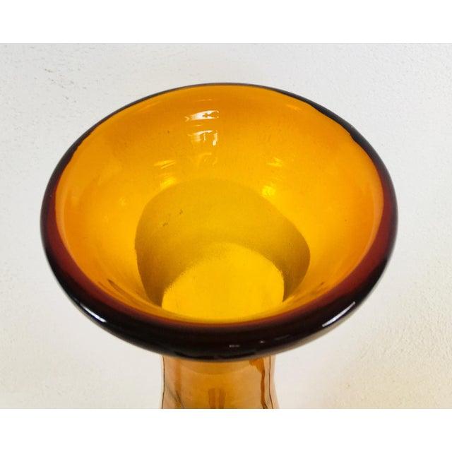 Blenko 1962 Blenko Monumental Jar With Stopper For Sale - Image 4 of 10