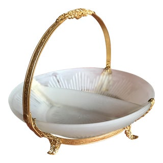 Elegant Victorian Ormolu Filigree Compote Relish