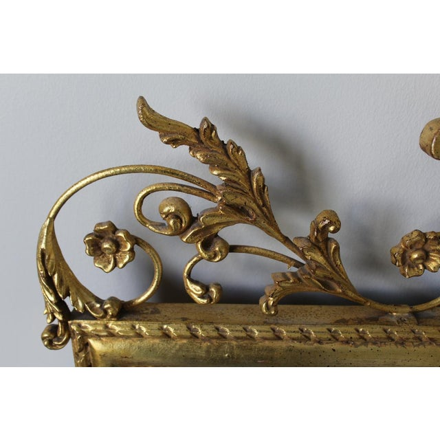Gold 1980s Neoclassical LaBarge Ornate Style Mirror For Sale - Image 8 of 11