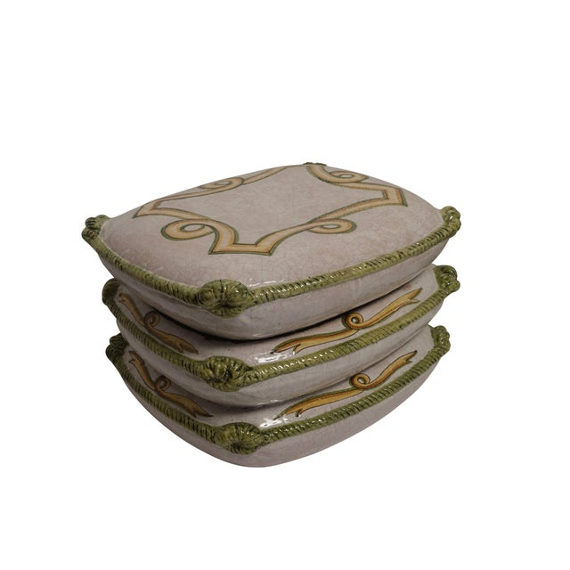 Ceramic Vintage Neoclassical Ceramic Garden Stools - a Pair For Sale - Image 7 of 11