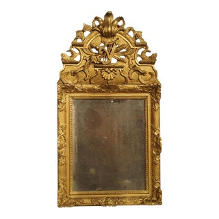 Period French Regence Giltwood Mirror, Circa 1720 For Sale