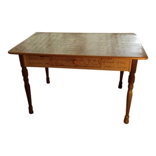 Vintage Ballard French Word Desk