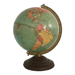 "Vintage Replogle World Globe 10"" 1940s For Sale"