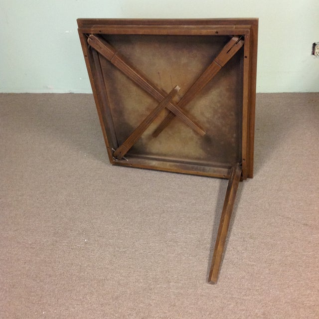 Stakmore Wood Game Table & Chairs For Sale In West Palm - Image 6 of 9