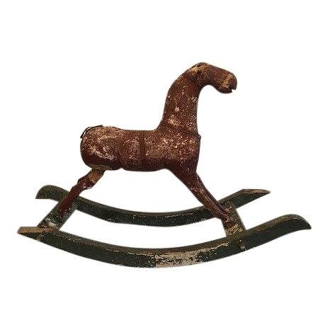 18th Century Folk Art Rocking Horse in Original Condition For Sale