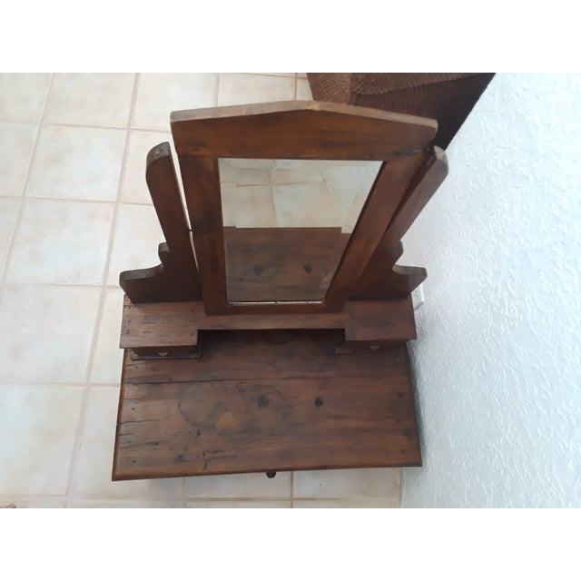 Small Teak Wood Dressing Mirror For Sale In Santa Fe - Image 6 of 9