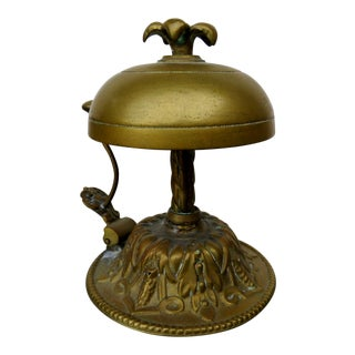 Antique French Bronze Service Bell For Sale