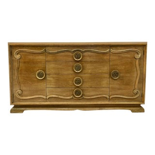 Vintage Hollywood Regency Style Credenza For Sale