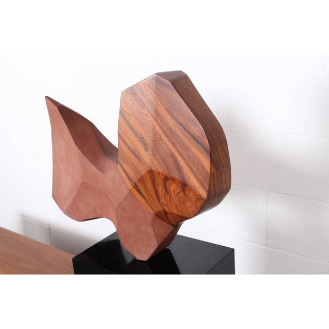 Stone Large Stone and Walnut Sculpture For Sale - Image 7 of 10