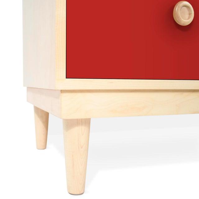 Modern Nico & Yeye Lukka Modern Kids 4 Drawer Dresser Maple Red For Sale - Image 3 of 5