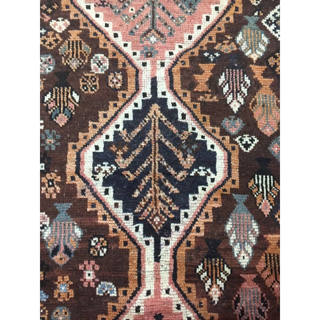 Fantastic colors in this tribal vintage shiraz including coral, brown, blue and steel blue grey. Good practical size with...