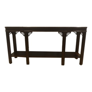 1980s Lane Mid Century Chinese Chippendale Console Table For Sale