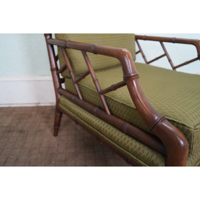 Century Furniture Co. Faux Bamboo Lounge Chair - Image 6 of 10