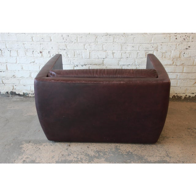 Roche Bobois Bauhaus Style Leather Loveseat or Cube Chair, 1970s For Sale - Image 9 of 12