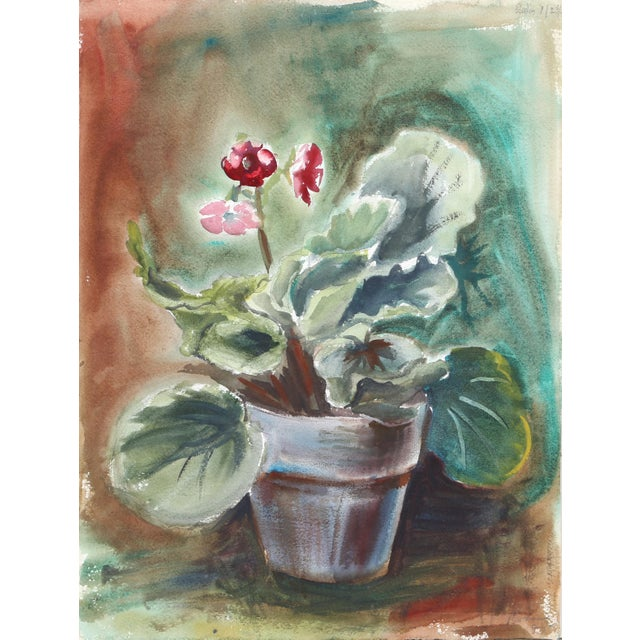 Contemporary Eve Nethercott, Flowering Plant (P1.33), Watercolor on Paper For Sale - Image 3 of 3