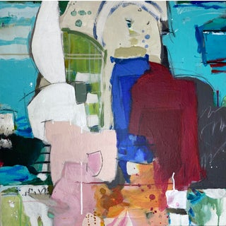 """Original Abstract Mixed Media Painting by Gina Cochran - """"Paper Dolls"""" For Sale"""