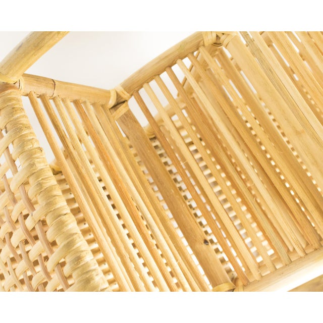 1970s Bohemian Rattan and Wicker Style Wall Desk Organizer For Sale - Image 9 of 12