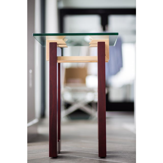 Modern Ant Walnut Maple Coffee & Side Tables - Set 3 - Image 9 of 9